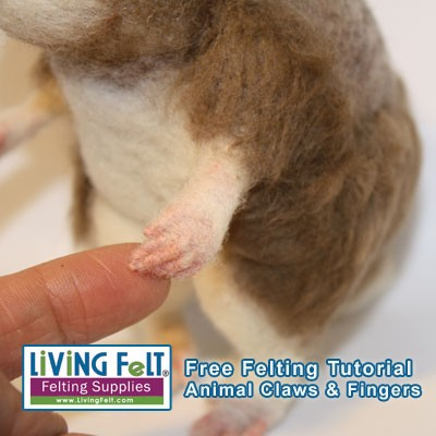FREE Needle Felting Tutorial: Claws for Realistic Needle Felted Animals