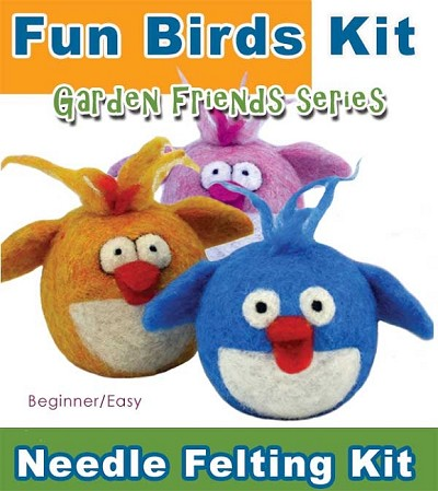Garden Friends Series:  Fun Bird Kit. Beginner / Easy Great For Classes! One bird per kit.