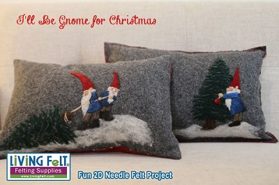 Needle Felting Pattern:  2D I'll Be Gnome for Christmas