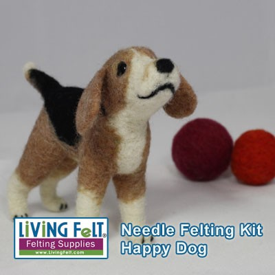 Easy Beginner Kit for Needle Felting a Dog!