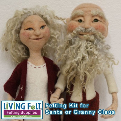 Needle Felting a Santa Claus or Granny Claus