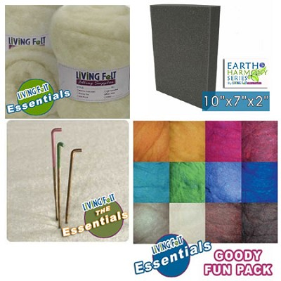 SUPER Needle Felting Starter Kit with CW-1 Core Wool