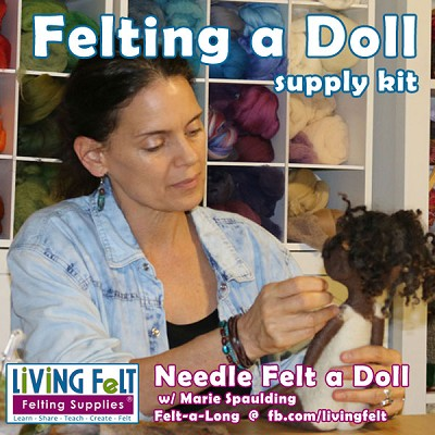 Needle Felting a Doll Supply Kit