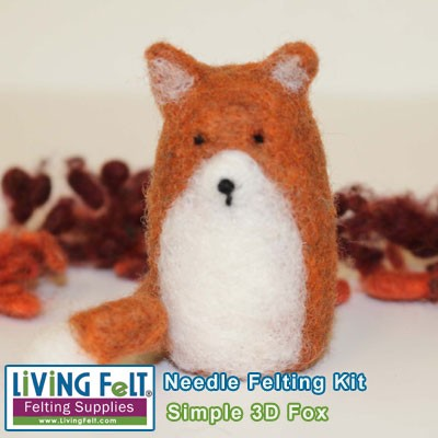 Needle Felting Kit: Sweet & Simple Fox