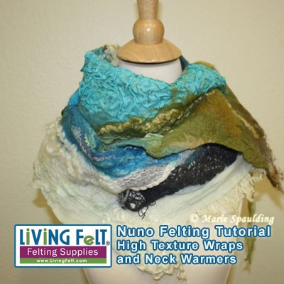Wet felting tutorial for a wool scarf with diana nagorna.
