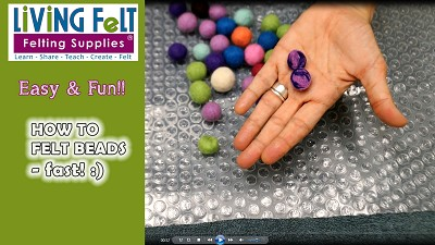 How to Wet Felt Beads Fast