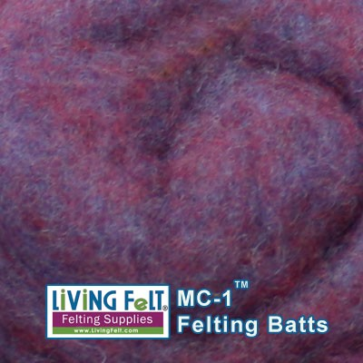 LIVING FELT BRAND MC-1™  Merino Cross Battscompared to blueberry, this is more towards violet/purple