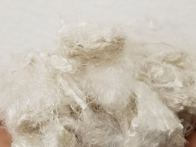 Sari Silk Waste - White