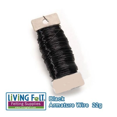 Wire Armature, Black 22-Gauge 38yards