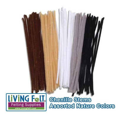 Chenille Stems Natural Colors 100 pieces