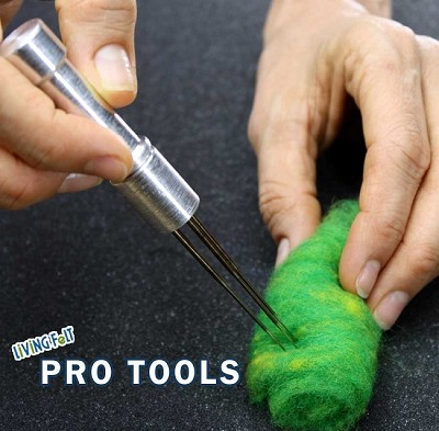 Needle Felting Tool - METAL Up to 4 Felting Needles