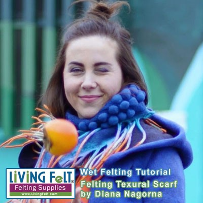 Nuno felting tutorial, nuno felt neck warmer, shawl or scarf.