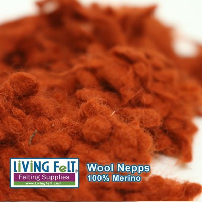 Wool Nepps - Burnt Orange
