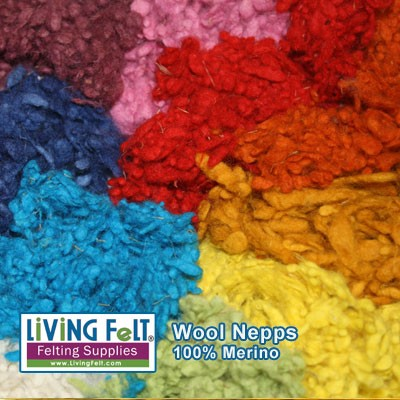 Wool nepps add color & texture!